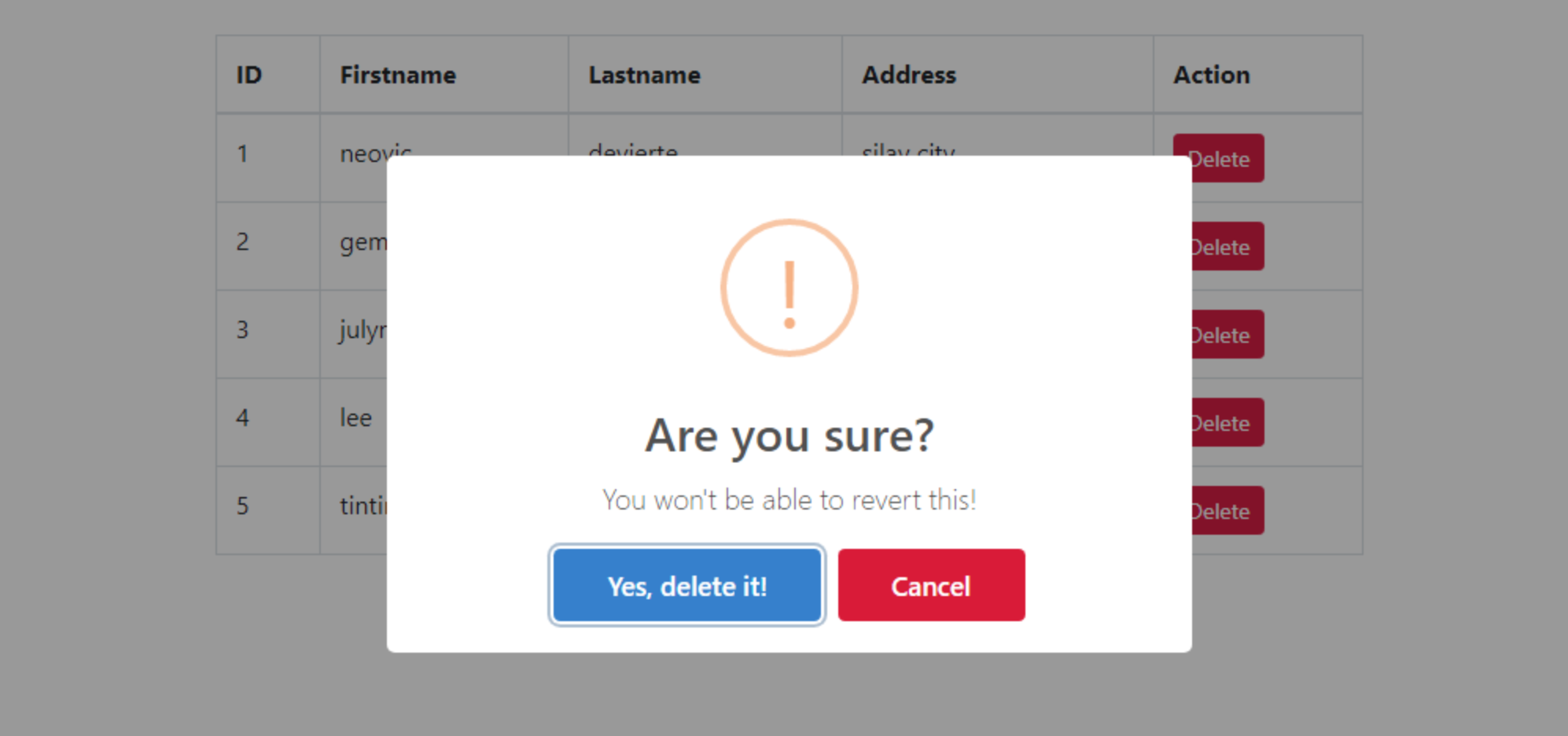 delete-confirmation-using-sweet-alert-in-laravel-dcvqy